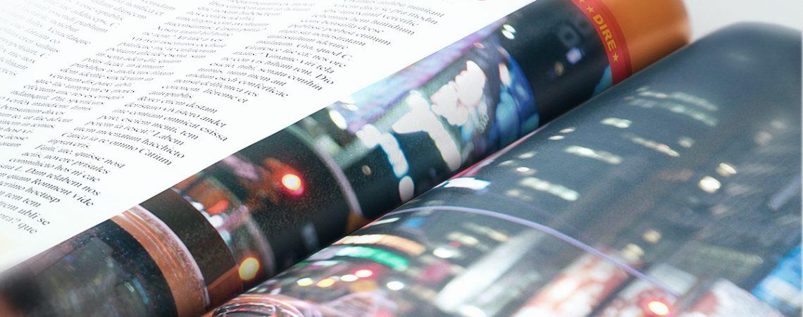 Fictional Magazine Spread Close Up