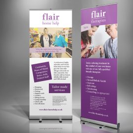 Flaire Home Help Roll-up Banners