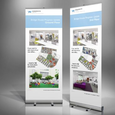 Highways Agency Relocation Update Roll-up Banners