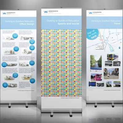 Highways Agency Guildford Move Roll-up Banners