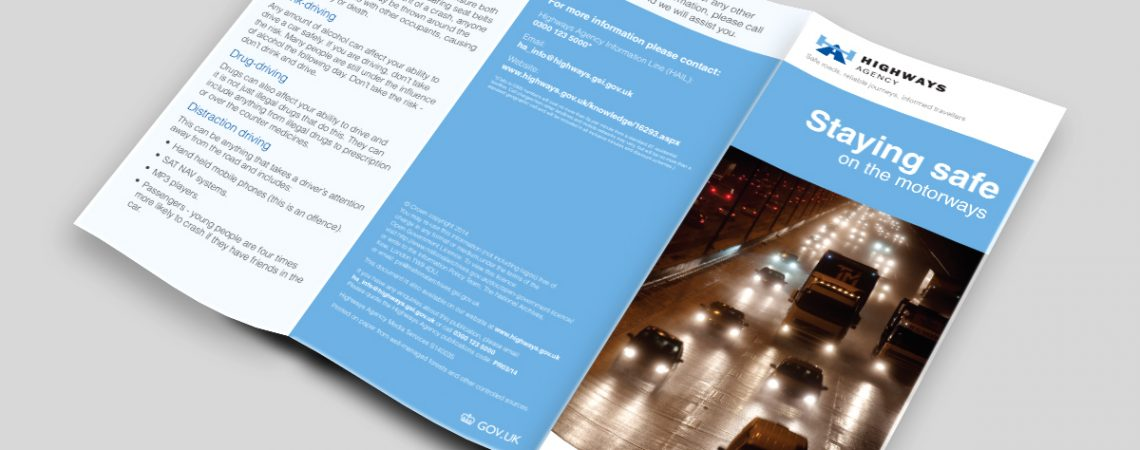 Sta Safe on the Motorways Leaflet