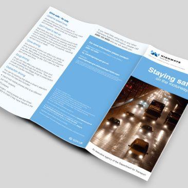 Sta Safe on the Motorways Leaflet