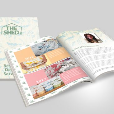 The Shed Inc Bespoke Brochure Cover Spread